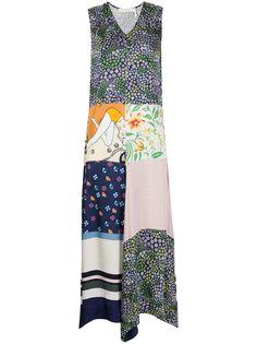 See by Chloé платье в технике пэчворк с цветочным принтом