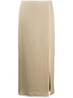 Nanushka фактурная юбка с запахом