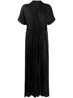 Mes Demoiselles платье макси с пайетками