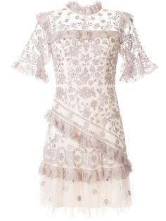 Needle & Thread платье с оборками