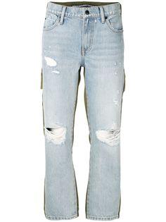 Alexander Wang укороченные джинсы с эффектом потертости