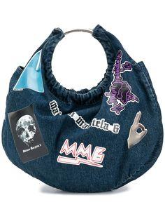 MM6 Maison Margiela джинсовая сумка-тоут с нашивками
