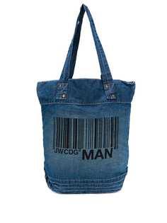 Junya Watanabe джинсовая сумка-тоут с логотипом
