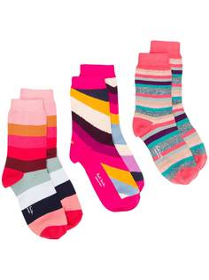 Paul Smith комплект из трех пар носков в полоску
