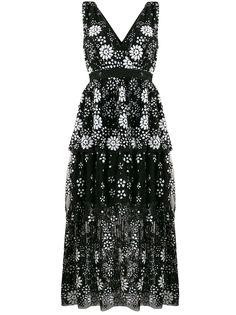 Self-Portrait платье с пайетками и V-образным вырезом