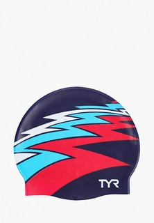 Шапочка для плавания TYR ZIG ZAG SILICONE CAP