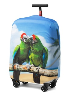 Чехол для чемодана RATEL Animal размер M Green Parrot
