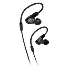Наушники AUDIO-TECHNICA ATH-E50, 3.5 мм, вкладыши, черный [80000798]