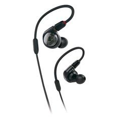 Наушники AUDIO-TECHNICA ATH-E40, 3.5 мм, вкладыши, черный [80000797]