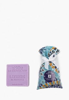 "Саше Le Chatelard 1802 Набор из саше ""Лаванда-Лавандин"" 18 гр и Мрсельское мыло Лаванда 100 гр"