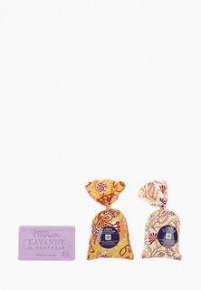 "Саше Le Chatelard 1802 Набор из 2 саше ""Лаванда-Лавандин"" 18 гр и Марсельское мыло 100 гр"