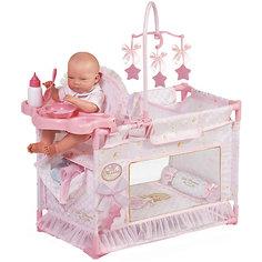 """Игровой центр-манеж для кукол DeCuevas """"Мария"""" с аксессуарами, 59 см"""
