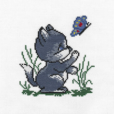 """Набор для вышивания Panna """"Счётный крест"""" Котик, 11х11,5 см"""