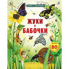 """Книга с окошками """"Открой тайны. Жуки и бабочки"""" Робинс"""