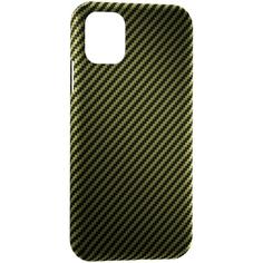 Чехол LYAMBDA ANNET MANCINI Сarbon iPhone 11 Pro Green Matte