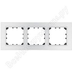 3-постовая рамка lk studio из натурального анодированного алюминия 864323-1