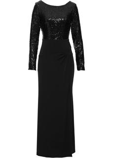 Платья с длинным рукавом Платье макси Bonprix