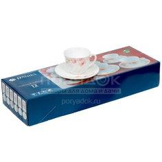 Сервиз чайный из стеклокерамики, 12 предметов, Орхидея Daniks, 190 мл