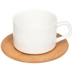 Сервиз чайный из керамики и дерева, 12 предметов, Y145 I.K