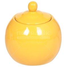 Сахарница керамическая, 350 мл, Палитра BRSG 003-Y желтая