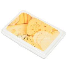 Контейнер пищевой пластмассовый Сыр М 1211, 4х23х16 см Idea