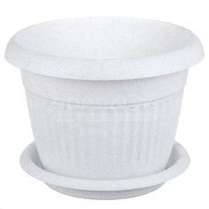 Горшок для цветов пластиковый Idea М 3002/3012 Ливия мрамор, 1.4 л