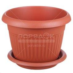 Горшок для цветов пластиковый Idea М 3008/3018 Ливия терракот, 26 л