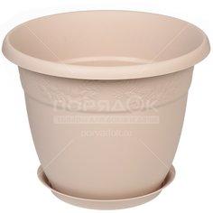Горшок для цветов пластиковый Idea М3060 Рябина латте, 22 л