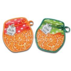 Прихватка, 17х15 см, Баночка с апельсинами