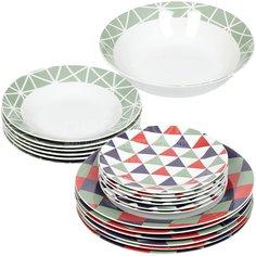 Сервиз столовый из керамики, 19 предметов, Миккели Daniks