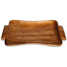 Поднос деревянный, 37.5х22.5х2.5 см, Oriental Way Ретро WD-40911 Alternativa