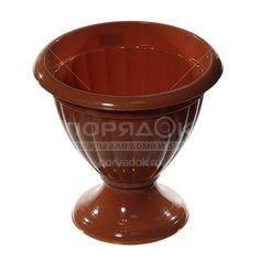 Горшок для цветов пластиковый Альтернатива М1559 Жасмин коричневый, 6 л Alternativa
