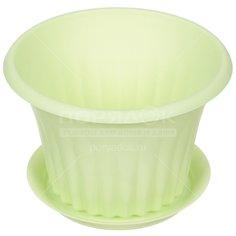 Горшок для цветов пластиковый Idea М3153 Кэрол мята, 0.45 л