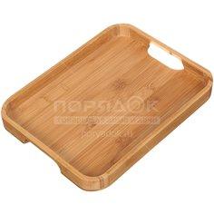Поднос бамбуковый, 30х23х2.8 см, для завтрака №2 КТ-ПД-02