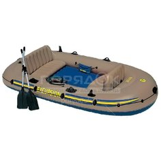 Лодка надувная Экскурсия 68324NP с веслами, 315х165х43 см Intex