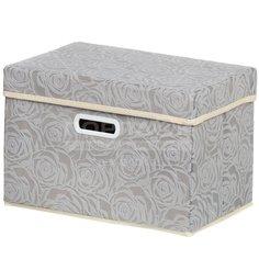 Кофр для хранения Розы Y3-587 I.K складной, 38х25х25 см, серый