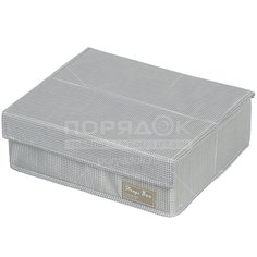 Кофр для хранения Клетка Y3-589 I.K, 13 секций, 32х28х11 см, серый