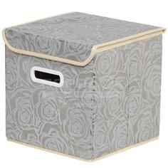 Кофр для хранения Розы Y3-586 I.K складной, 25х25х25 см, серый