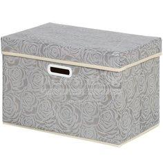 Кофр для хранения Розы Y3-588 I.K складной, 45х30х30 см, серый