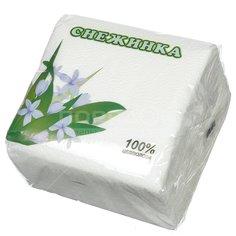Салфетки бумажные Снежинка белые 100 шт, 24х24 см