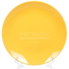 Тарелка обеденная керамическая, 260 мм, Палитра FP10,5yl желтая Керам-Строй