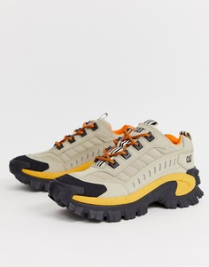 Светло-коричневые кроссовки на массивной подошве Caterpillar-Светло-коричневый