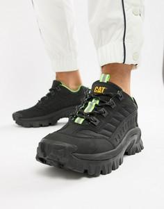 Черные кроссовки на массивной подошве Caterpillar-Черный