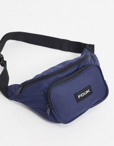 Темно-синяя сумка-кошелек на пояс French Connection-Темно-синий