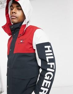 Пальто со съемным капюшоном и логотипом Tommy Hilfiger-Мульти