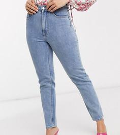 Голубые джинсы в винтажном стиле с завышенной талией Vero Moda Petite-Синий