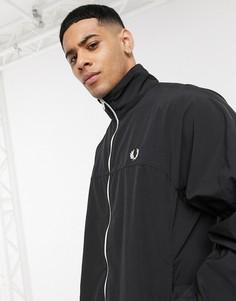 Черная куртка на молнии Fred Perry-Черный