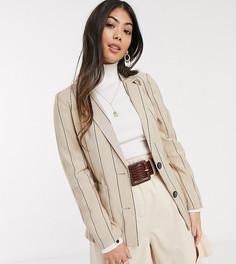 Бежевый пиджак в тонкую полоску Vero Moda Petite