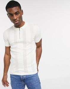 Белое трикотажное поло New Look-Белый