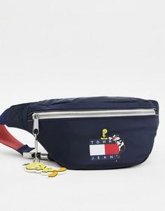 Темно-синяя сумка-кошелек на пояс с логотипом Tommy Jeans x Looney Tunes-Темно-синий